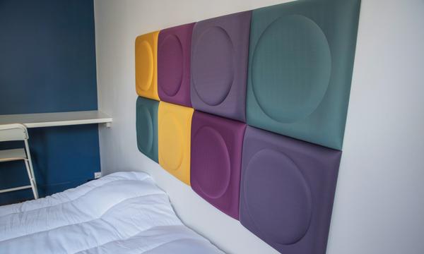 Photographie d'une chambre avec dalles Kalm Design