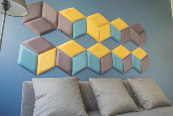 Photo d'une décoration intérieure salon dalles Kalm Design